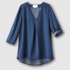 Блузка с рисунком SUD EXPRESS. Цвет: синий