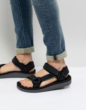 Teva Кожаные сандалии Original Universal Premier. Цвет: черный