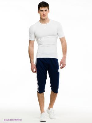 Бриджи Tiro 13 3/4 Adidas. Цвет: темно-синий, белый