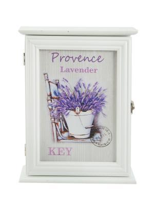 Ключница Прованс Русские подарки. Цвет: фиолетовый,кремовый,белый