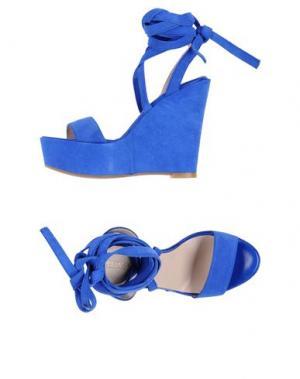Сандалии ELIANA BUCCI. Цвет: ярко-синий