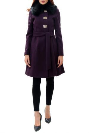 Пальто RADEKS. Цвет: фиолетовый