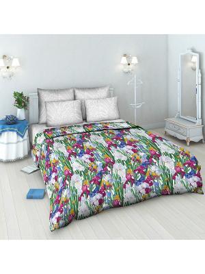 Комплект постельного белья Василиса. Цвет: белый, зеленый, бордовый