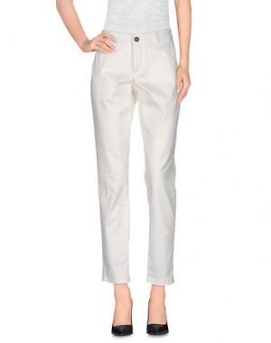 Повседневные брюки DERRIÉRE. Цвет: белый