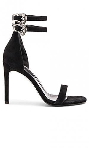Туфли на каблуке с двумя пряжками The Kooples. Цвет: черный