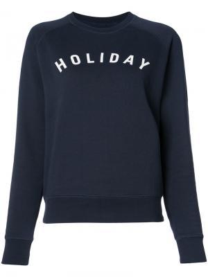 Толстовка с логотипом Holiday. Цвет: синий