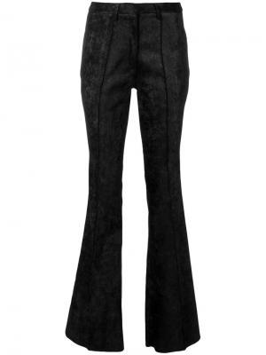 Расклешенные брюки Nude. Цвет: чёрный