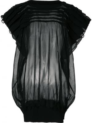Sheer pleated panel top Junya Watanabe Comme Des Garçons. Цвет: чёрный