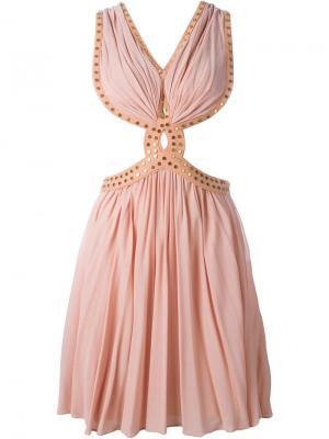 Платье с заклепками Jay Ahr. Цвет: розовый и фиолетовый