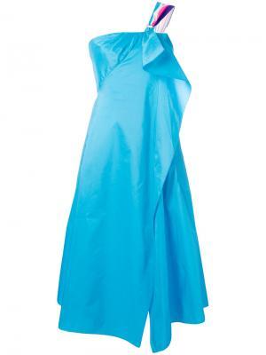 Расклешенное платье Peter Pilotto. Цвет: синий