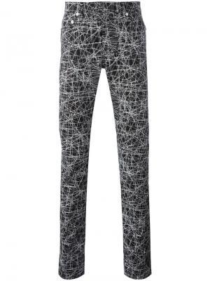 Брюки с абстрактным принтом Dior Homme. Цвет: чёрный