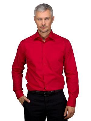 Рубашка GREG. Цвет: красный