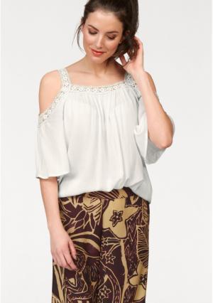 Блузка Aniston. Цвет: цвет белой шерсти