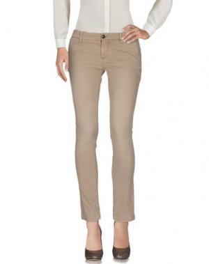 Повседневные брюки MONOCROM. Цвет: бежевый