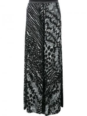 Широкие брюки с абстрактным узором Missoni. Цвет: чёрный