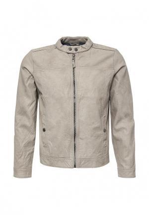 Куртка кожаная Alcott. Цвет: бежевый