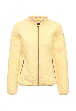 Куртка утепленная Luhta. Цвет: желтый