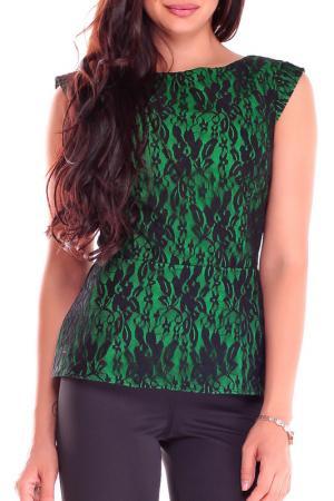 Блуза Laura Bettini. Цвет: зеленый, черный