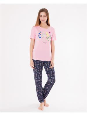 Комплект одежды: футболка, брюки Mark Formelle. Цвет: серый,розовый