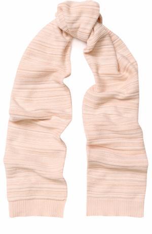Вязаный шарф с металлизированной отделкой Chloé. Цвет: розовый