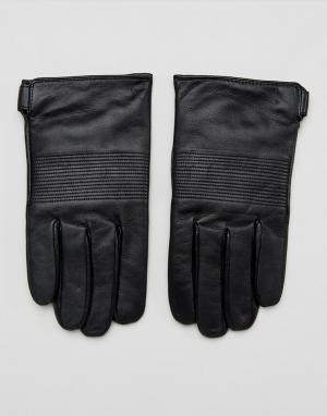 Dents Кожаные перчатки с кашемировой подкладкой Chartham. Цвет: черный