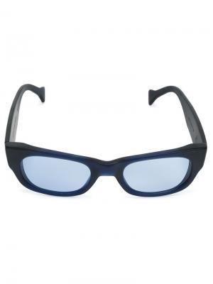 Солнцезащитные очки Saturnino. Цвет: синий