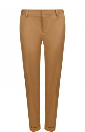 Укороченные хлопковые брюки со стрелками Dsquared2. Цвет: темно-бежевый