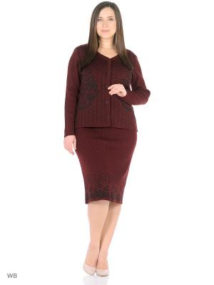 Костюм, модель Ира (кардиган+юбка) Dorothy's Home. Цвет: бордовый, черный