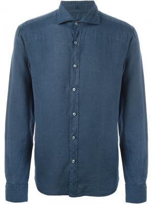 Классическая рубашка Fay. Цвет: синий