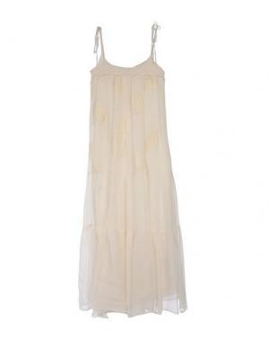Длинное платье SUOLI. Цвет: слоновая кость
