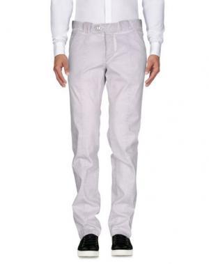 Повседневные брюки BARBA Napoli. Цвет: светло-серый