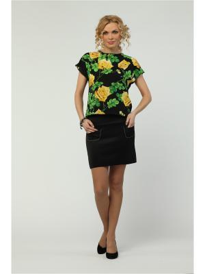 Блузка KATA BINSKA. Цвет: черный, желтый