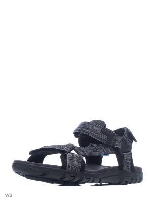 Сандалии GEOX. Цвет: черный, серый