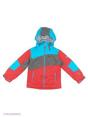 Куртка 3 в 1 High Experience. Цвет: голубой, коралловый, серый