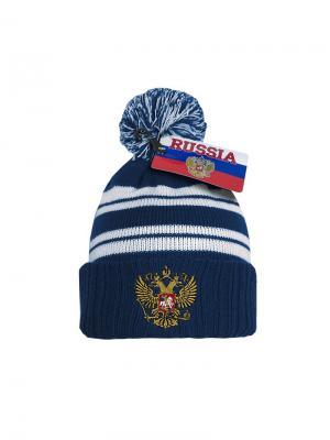 Шапка Россия Atributika & Club. Цвет: синий, белый