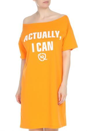 Платье Rocawear. Цвет: оранжевый