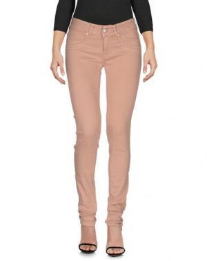 Джинсовые брюки NOLITA. Цвет: телесный