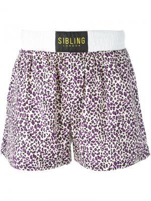 Спортивные шорты  Squad Sibling. Цвет: розовый и фиолетовый
