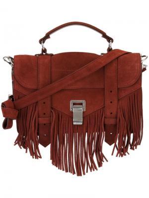 Мини сумка-сэтчел PS1 Proenza Schouler. Цвет: красный