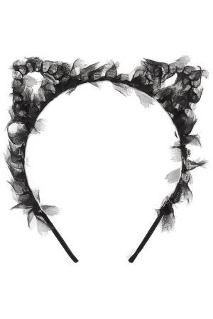 Ободок-украшение Eugenia Kim. Цвет: black