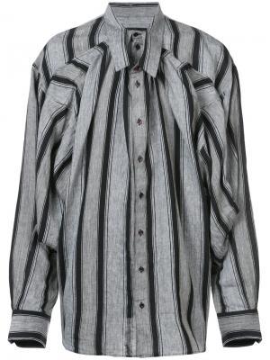 Двухслойная полосатая рубашка Y / Project. Цвет: чёрный
