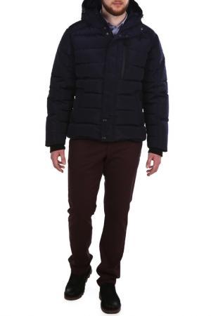 Полуприлегающая куртка с капюшоном XASKA. Цвет: синий