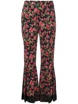 Брюки клеш с принтом Dolce & Gabbana. Цвет: чёрный