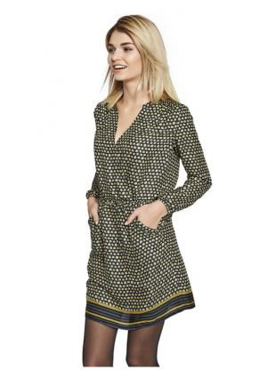 Платье Rick Cardona. Цвет: желтый/черный