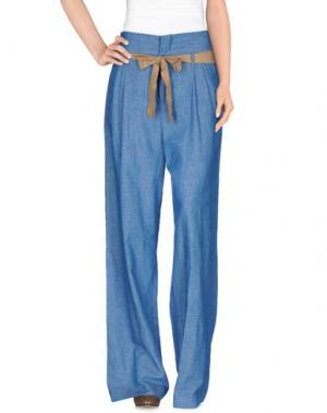 Повседневные брюки ANIYE BY. Цвет: лазурный