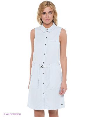 Платье Vero moda. Цвет: светло-голубой