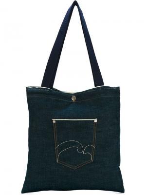 Джинсовая сумка-тоут Société Anonyme. Цвет: синий