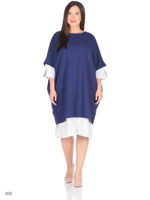 Платье-туника Fichissimo. Цвет: темно-синий
