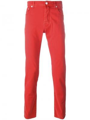 Узкие джинсы Jacob Cohen. Цвет: красный