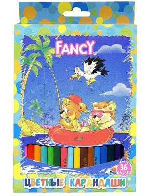 Набор карандашей цветных Fancy (36 цветов) Action!. Цвет: синий